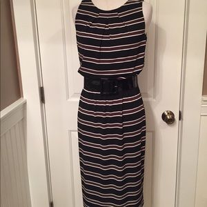WHBM WHITE HOUSE BLACK MARKET DRESS STRIPE BELT 2